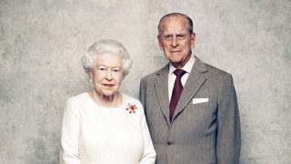 Queen Elizabeth II and Prince Philip unveil 70th anniversary portrait