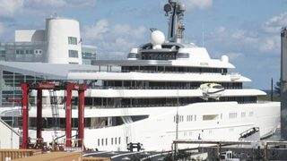 Russian mega-yacht owned by Putin friend docks in Port of Palm Beach