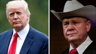 Trump supports embattled Senate candidate Roy Moore, 'He totally denies it