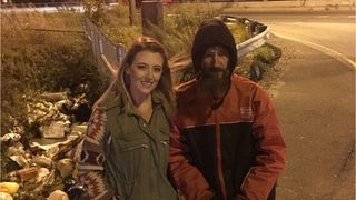Woman helps raise more than $40,000 for homeless veteran who gave her…