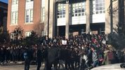 Students walked out twice at Brookline High School.