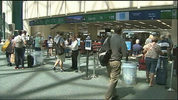 File image of passengers at Orlando International Airport.
