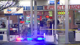 A bystander shot a man allegedly attacking a deputy at a gas station.