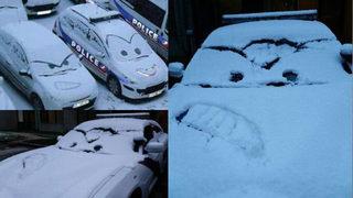 Texas deputies turn snowy patrol vehicles into'Cars