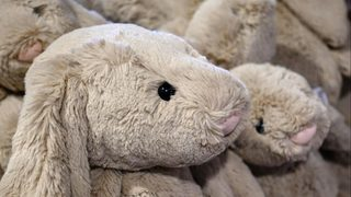Grocery store helps reunite toddler with lost stuffed rabbit named Rabby