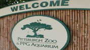 The sign for Pittsburgh Zoo & PPG Aquarium.