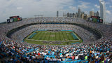 CHARLOTTE, NC - SEPTEMBER 08: A general view of the Seattle Seahawks against the Carolina Panthers during their game at Bank of America Stadium on September 8, 2013 in Charlotte, North Carolina.