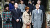 Princess Beatrice, Princess Eugenie, Princess Anne, Princess Royal, Prince Andrew, Duke of York, Prince William, Duke of Cambridge, Catherine, Duchess of Cambridge, Meghan Markle and Prince Harry attend service at Church of St Mary Magdalene.