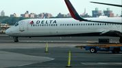 FILE PHOTO: A Delta jet taxis on the tarmac. Drew Angerer/Getty Images