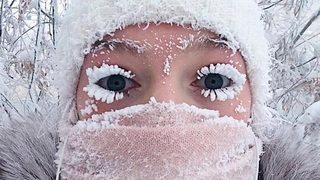 Eyelashes freeze, thermometer breaks as -62°C temperatures hit world