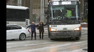 Roads re-freeze following snow, winter weather across N
