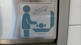 Baby found abandoned on airport bathroom changing table