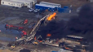 5 missing after natural gas well catches fire in Oklahoma