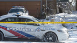 Toronto police cars are pictured Tuesday, Jan. 30, 2018, in front of a house on Mallory Crescent in the city. Investigators have discovered remains from at least six people in planters outside the home, where landscaper and suspected serial killer