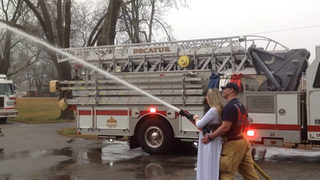 Firefighters help with partner