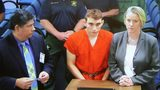 Nikolas Cruz, 19, a former student at Marjory Stoneman Douglas High School in Parkland, Florida, where he allegedly killed 17 people, is seen on a television screen during a bond hearing at the Broward County Courthouse on Feb.15, 2018.
