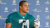 Jonathan Martin played for the Miami Dolphins in 2012 and 2013.
