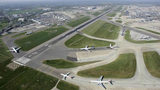 Aerial view of Tulsa International Airport.
