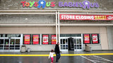 EMERYVILLE, CA - MARCH 15: Customers leave a Toys R Us store on March 15, 2018 in Emeryville, California. Toys R Us filed for liquidation in a U.S. Bankruptcy court and plans to close 735 stores leaving 33,000 workers without employment.