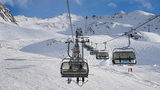 A picture of a ski lift, which is not the one that malfunctioned in Eastern Europe, injuring 10 tourists.
