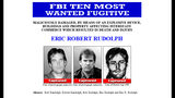 An image from the FBI's 10 Most Wanted page shows Eric Robert Rudolph as captured following his May 2003 arrest.