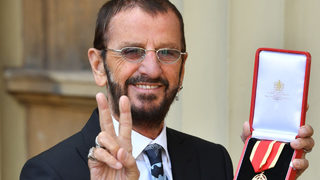 Ex-Beatle Ringo Starr knighted by Prince William in Buckingham Palace ceremony