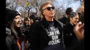 NEW YORK, NY - MARCH 24: Sir Paul McCartney joins thousands of people, many of them students, march against gun violence in Manhattan during the March for Our Lives rally on March 24, 2018 in New York, United States. More than 800 March for Our Lives