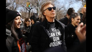 Paul McCartney reflects on John Lennon at March for Our Lives rally