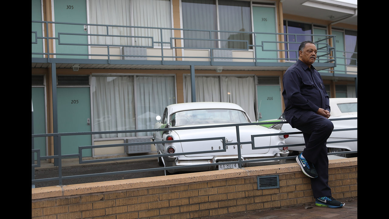 Photos Jesse Jackson Revisits Hotel Where Martin Luther King Jr Was Killed