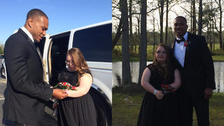 NFL player returns to hometown to take family friend to prom