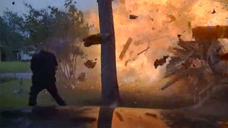 Cruiser camera catches house explosion in Texas