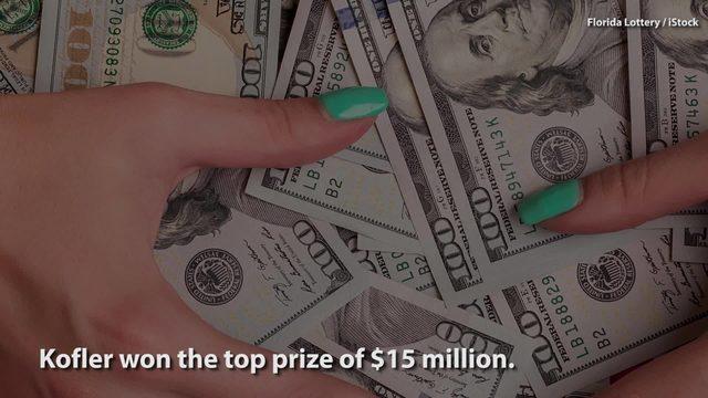 Florida man, 19, wins $15 million playing lottery scratch
