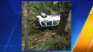 Washington state man, 73, stuck in car for 12 hours after crash