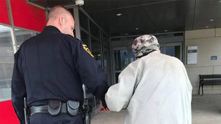 Police officer takes 84-year-old man to hospital to visit sick wife