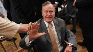 Former President George H.W. Bush back in the hospital in Maine with low blood pressure