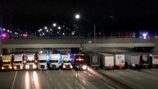 13 truckers help police save suicidal man