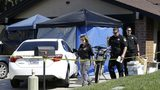 Sacramento County sheriff's deputies are pictured Wednesday, April 25, 2018, outside the home of Joseph James DeAngelo Jr. in Citrus Heights, California.