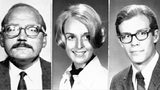 Pictured are, from left, Paul Stine, 29, Cecilia Shepard, 22, and Bryan Hartnell, 20, who California police investigators believe were victims of a serial killer calling himself the Zodiac Killer.