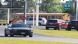 A Laurens County Sheriff's deputy patrols West Laurens Middle School on Tuesday, May 2, 2018, in Dublin. (Curtis Compton, The Atlanta Journal-Constitution)