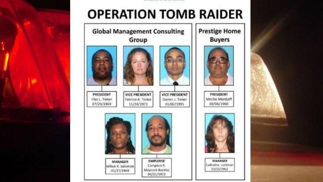 Deputies arrest 6 'tomb raiders' accused of stealing homes in Florida   WPXI