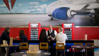 Delta opens pop-up lounge for middle-seat passengers at Logan