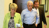 Cindy and George Anthony, parents of Casey Anthony, are the first to leave the courtroom, with their attorney Mark Lippman, after their daughter was found not guilty in her 1st-degree murder trial, at the Orange County Courthouse in Orlando, Fl.