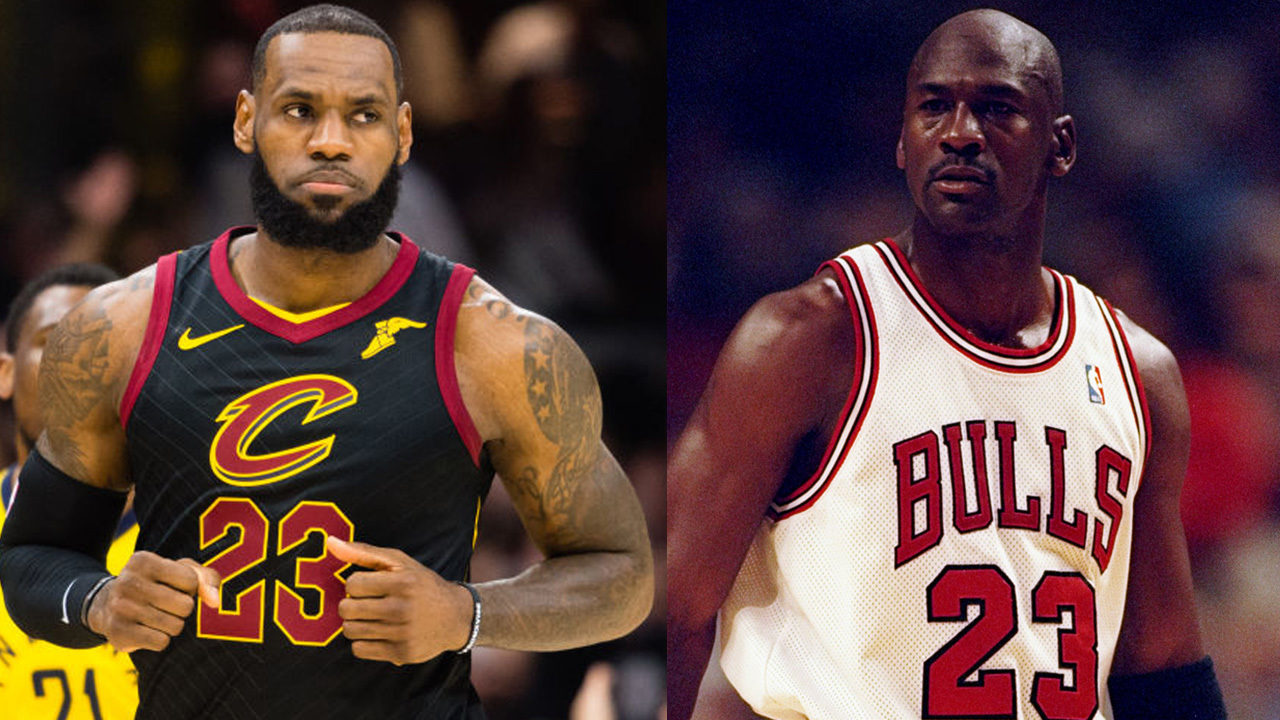 306ff7b413e Is LeBron James the greatest  Fans compare him to Michael Jordan