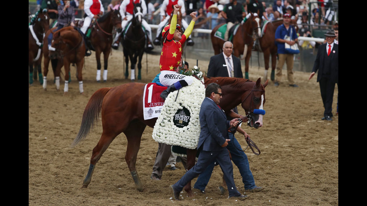 Image result for justify wins triple crown