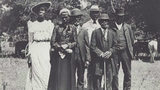 A photo of African-Americans celebrating at a Juneteenth Emancipation Day Celebration on June 19, 1900 in Texas.