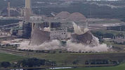 Twin cooling towers in North Jacksonville, Florida were imploded Saturday morning. Photo: ActionNewsJax.com
