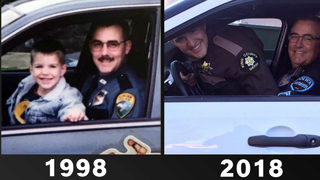 Father and son re-create police photo for Father