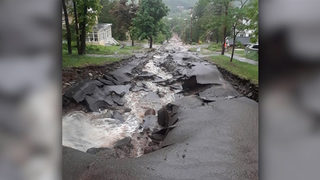 Flash flooding washes out roads, opens 60 sinkholes in upper Michigan