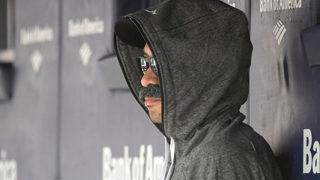 Ichiro dons fake mustache, hoodie to sit in Mariners