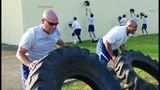"Senior Master Sgt. Robert ""Bob"" Orsi, left, is pictured in 2009 during fitness activities at Maxwell Air Force Base in Montgomery, Alabama. (U.S. Air Force photo/Jamie Pitcher)"